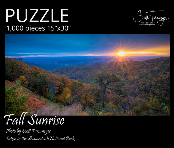 Fall Sunrise Fine Art Photography Jigsaw Puzzle - Turnmeyer Galleries