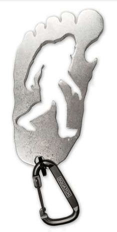 Metal Footprint BOTTLE OPENER w/Carabiner