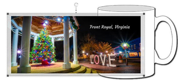 Front Royal Gazebo with Love Ceramic Photographic Mug - Turnmeyer Galleries