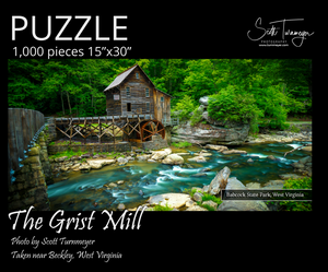 Grist Mill Fine Art Photography Jigsaw Puzzle by Scott Turnmeyer