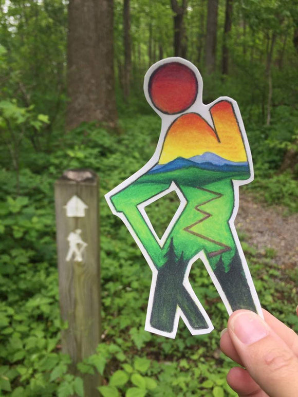 Hiker Decal - Turnmeyer Galleries