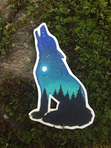 Howling Wolf Decal - Turnmeyer Galleries
