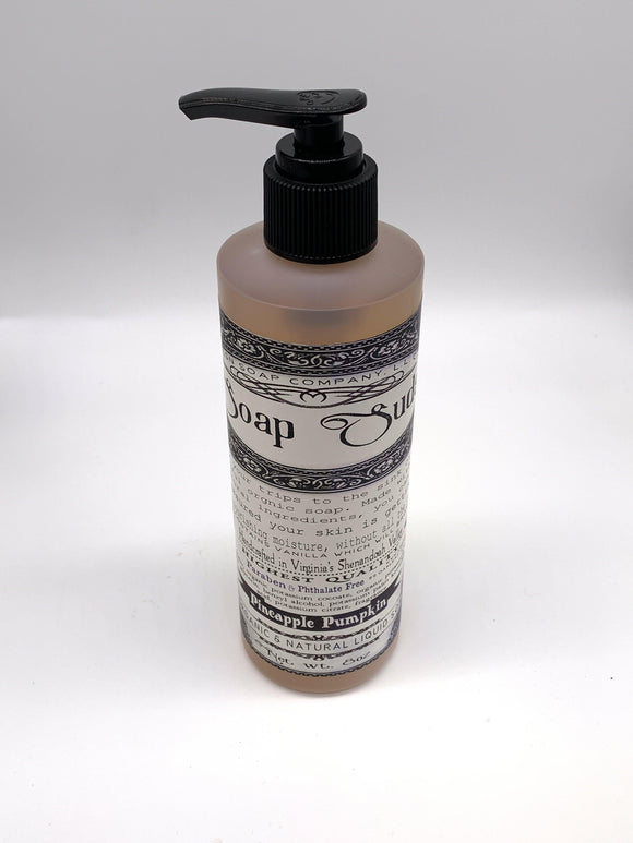 Organic and Natural Liquid Soap - Pineapple Pumpkin - Turnmeyer Galleries