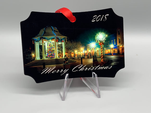 Front Royal At Christmas Metal Photo Ornament 2018