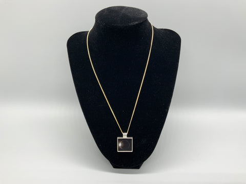 Small Square Photo Pendent with Chain Necklace