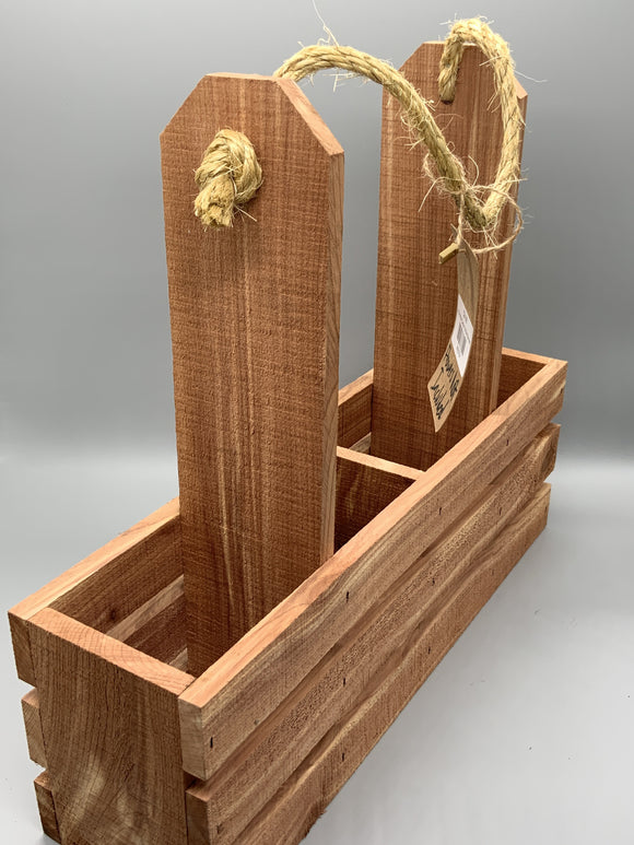 4 Bin Wooden Wine Carrier - Turnmeyer Galleries