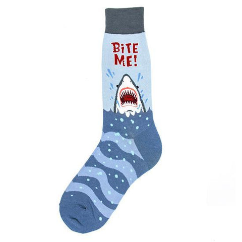 Bite Me Shark Socks