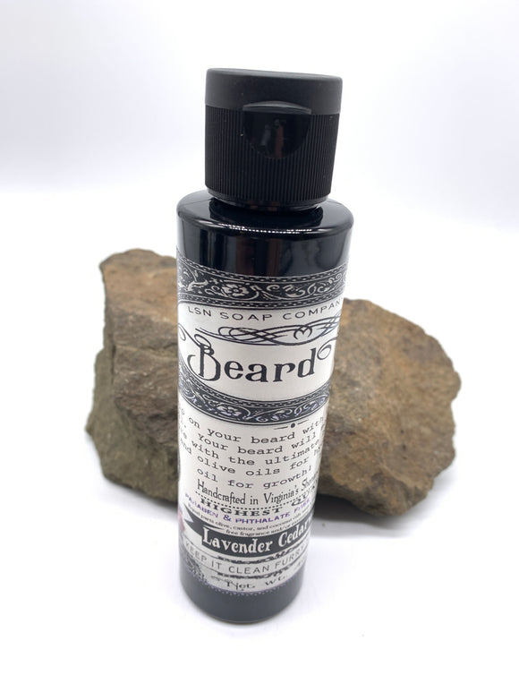 Organic and Natural Beard Oil - Lavender Cedarwood