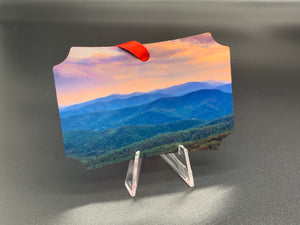 Mountains Metal Photo Ornament