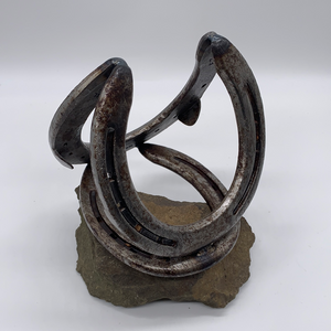 Horseshoe Art Single Wine Bottle Holder