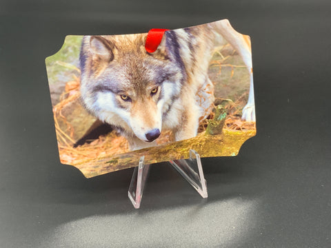 Wolves Metal Photo Ornament