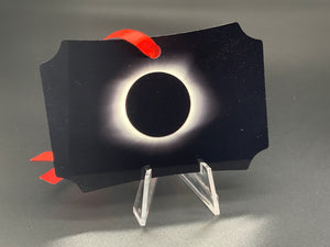 Eclipse and Moon Metal Photo Ornament