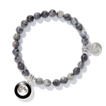 Moonglow Labradorite Beaded Bracelet in Black