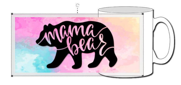 Mama Bear Pastel Ceramic Photographic Mug