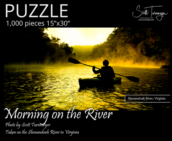 Morning on the River Fine Art Photography Jigsaw Puzzle