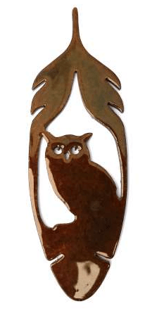 Feather Owl Metal MAGNET - Turnmeyer Galleries