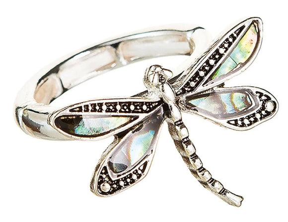 Abalone Dragonfly Ring - Turnmeyer Galleries