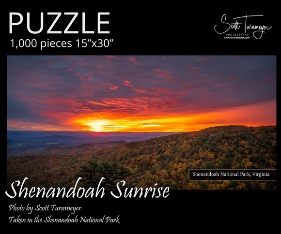 Shenandoah Sunrise Fine Art Photography Jigsaw Puzzle - Turnmeyer Galleries