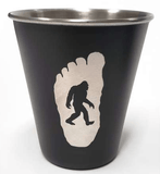 "Bigfoot ""BELIEVE"" Stainless Steel Shot Glass - Turnmeyer Galleries"