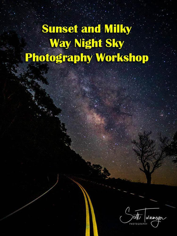Sunset and Milky Way Night Sky Photography Workshops in the Shenandoah National Park (Overlook Location) - Turnmeyer Galleries