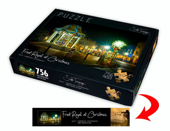 Front Royal at Christmas Fine Art Photography Jigsaw Puzzle by Scott Turnmeyer