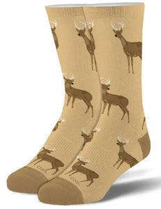 White Tail Deer Buck Socks - Turnmeyer Galleries