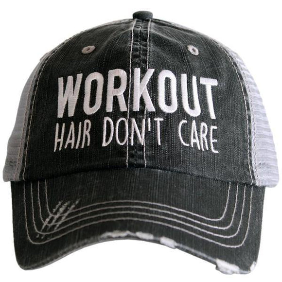 Workout Hair Don't Care Trucker Hat - Turnmeyer Galleries