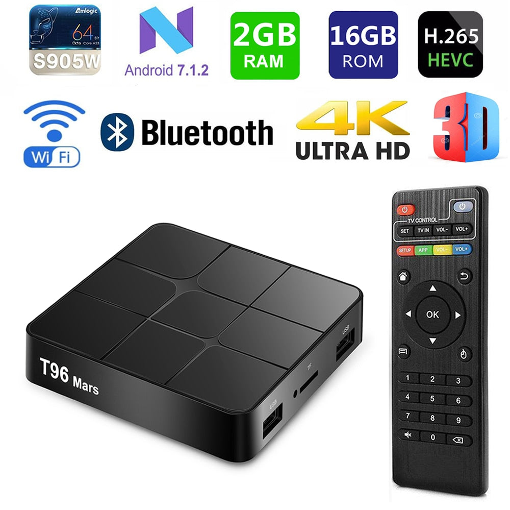 Smart TV BOX Android T96 Mars 2GB/16GB au maroc