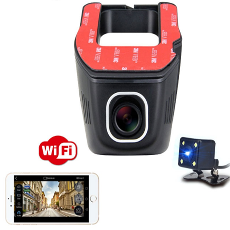 Double Caméra Voiture DVR Wifi Double Objectif Cachée Full HD1080
