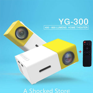 Mini Projecteur Portable YG300 LED Audio HDMI USB Mini au maroc