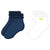 NAVY AND WHITE EMBROIDERED SOCKS