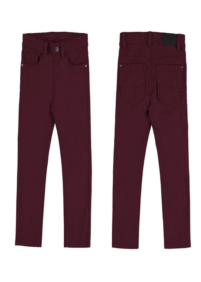 MAYORAL BURGUNDY SLIM FIT CHINOS
