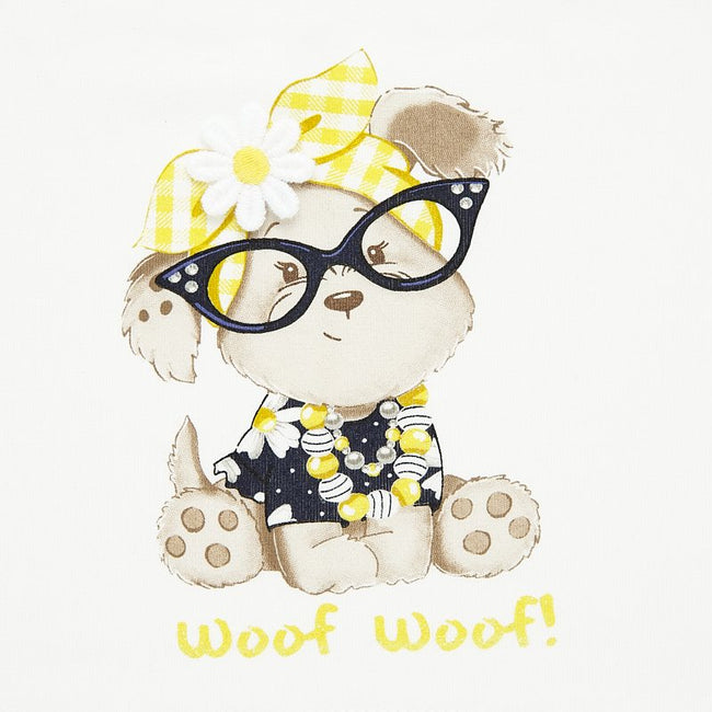 MAYORAL YELLOW WOOF WOOF SHORT SET