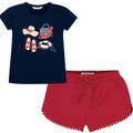MAYORAL NAVY AND RED SAILOR SHORT SET