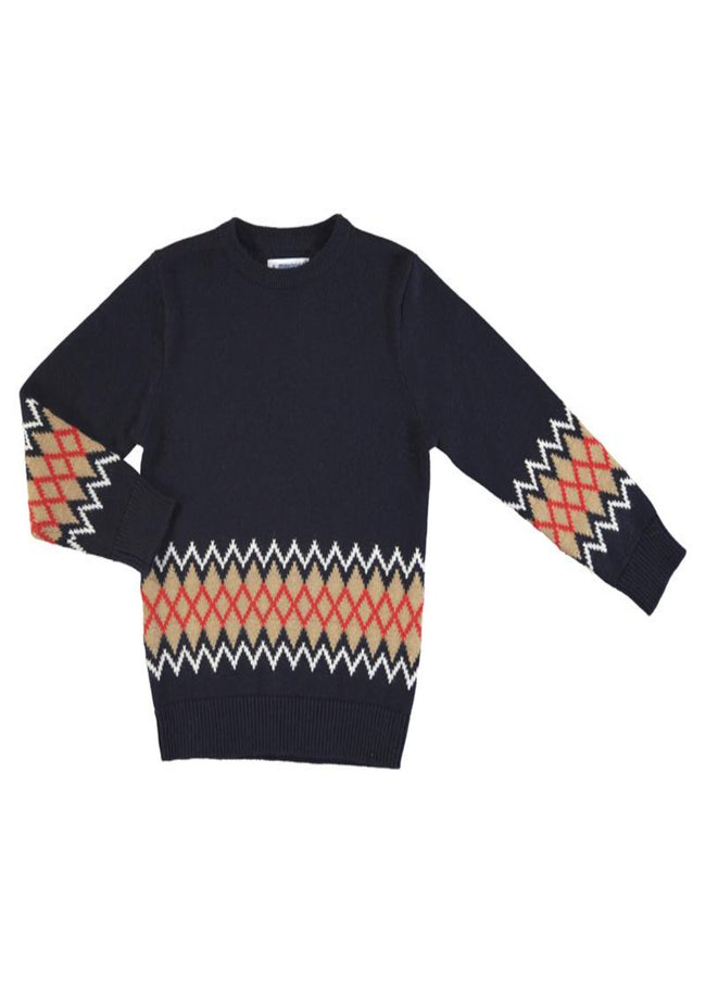 MAYORAL NAVY JACQUARD JUMPER