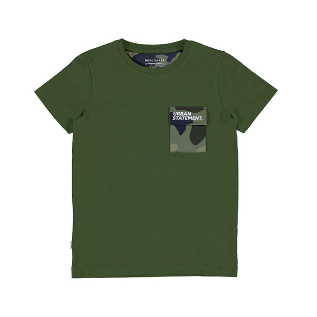 GREEN CAMO POCKET T-SHIRT