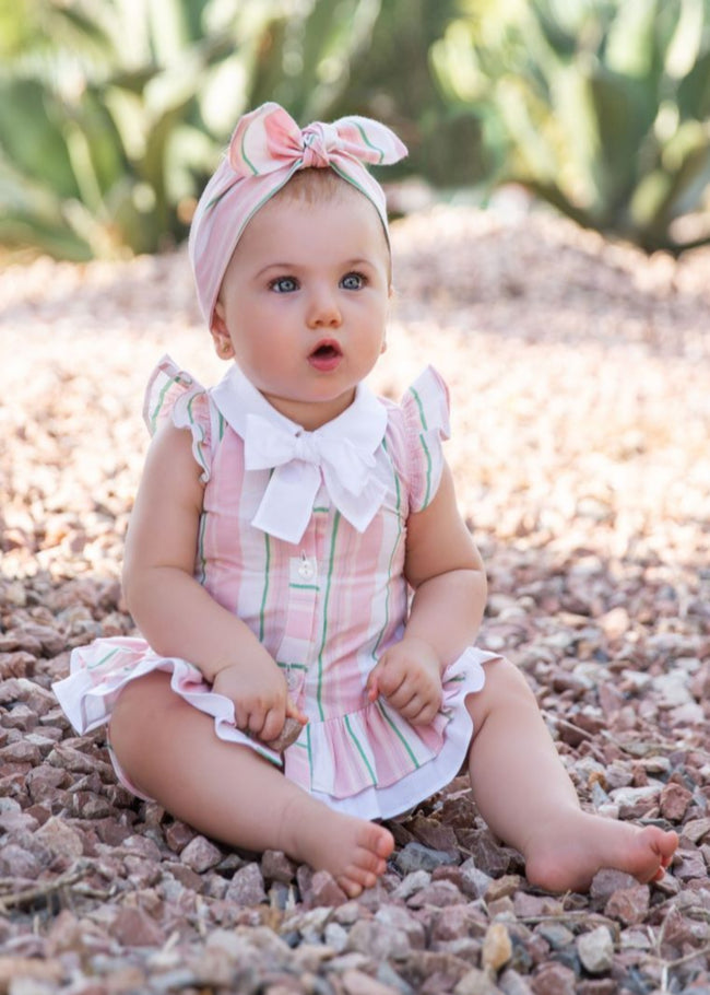 BABY DRESS PINK STRIPE WITH KNICKERS