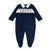 NAVY SMOCKED SOLDIER BABY GROW