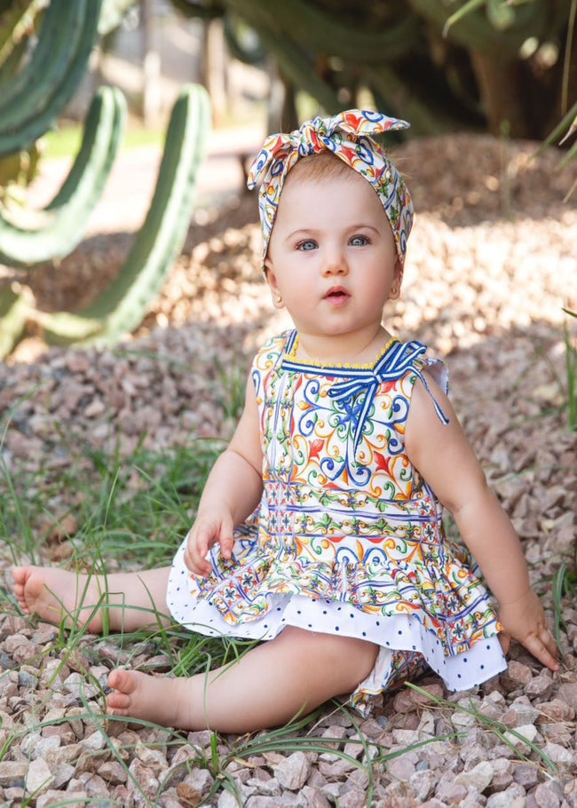 BABY PATTERN DRESS AND KNICKERS