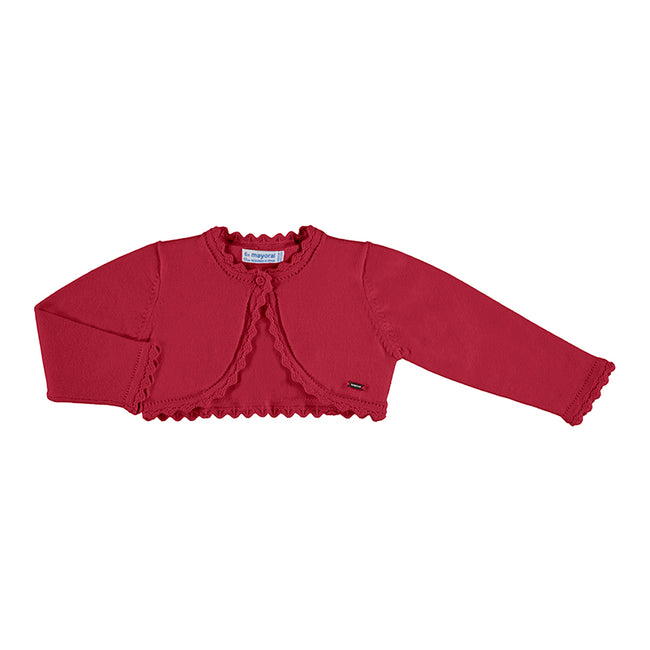 MAYORAL CARMINE RED BASIC CARDIGAN