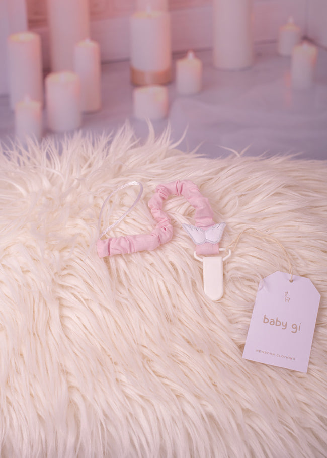 ANGEL WINGS PINK DUMMY CLIP