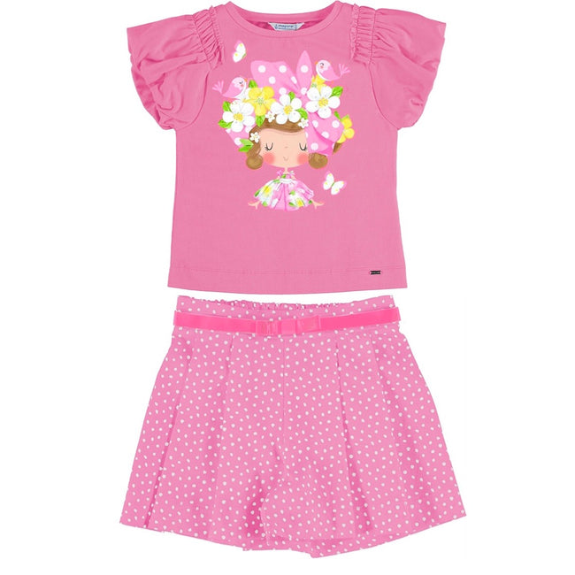 MAYORAL PINK DOLL SHORT SET (PRE ORDER JANUARY DELIVERY)
