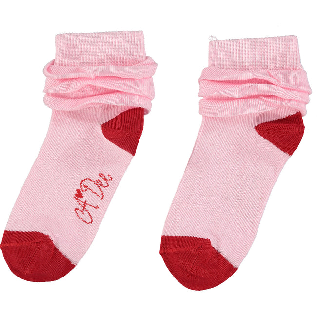 ERIN QUEEN OF HEARTS PINK FRILLY SOCKS