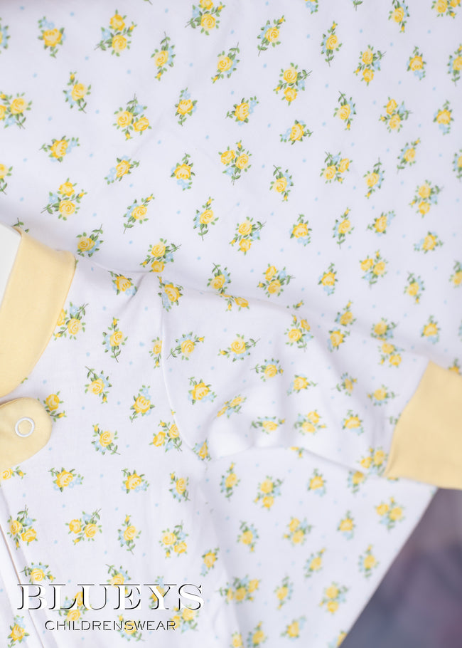 NEWBORN LEMON FLOWER LAYETTE SET