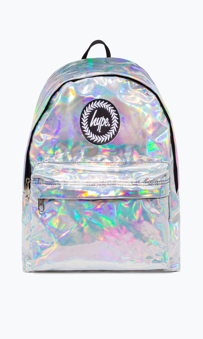 SILVER HOLOGRAPHIC HYPE BACK PACK