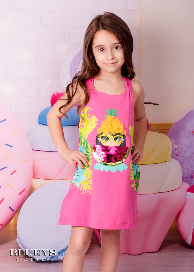 MAYORAL PINK WATERMELON GIRL DRESS