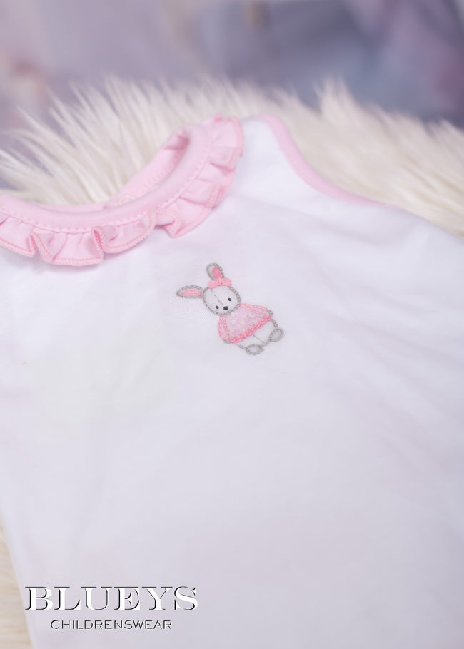 NEWBORN EMBROIDERED BUNNY SHORT SET