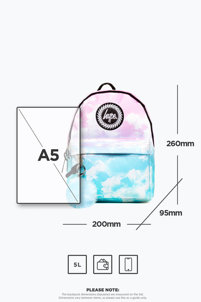 MINI PASTEL CLOUDS HYPE BACK PACK