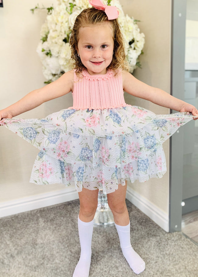 GRANLEI FLORAL PUFF BALL DRESS