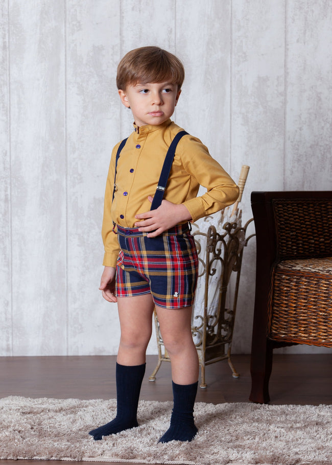ABUELA TATA MUSTARD AND NAVY SET